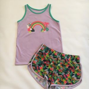 Toucan print outfit
